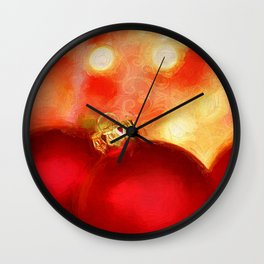 A Van Gogh Christmas Wall Clock