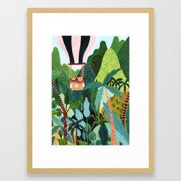 Hot Air Balloon Explorer Framed Art Print