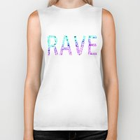 rave Biker Tanks featuring Rave  by Illuminany