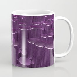 Pattern of purple brushed metal cylinders Coffee Mug