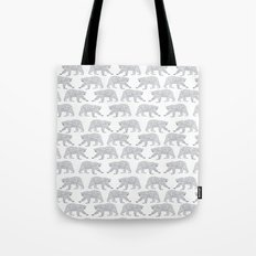 Polar Bears geometric trendy kids bear pattern print for boy or girl gender neutral Tote Bag