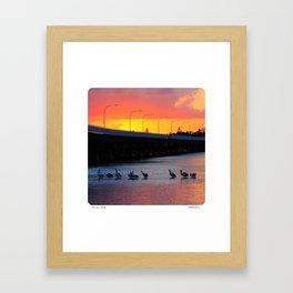 Forster Bridge Sunset Framed Art Print