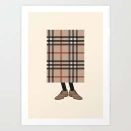 Check out Mr. Check Art Print