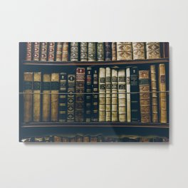 The Bookshelf (Color) Metal Print