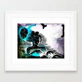 Ouija Wax Framed Art Print