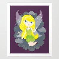 fairy Art Prints featuring Fairy by Maria Jose Da Luz