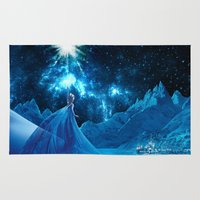 quidditch Area & Throw Rugs featuring Frozen - Elsa by Thorin