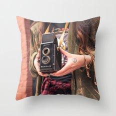 Take a photo Throw Pillow