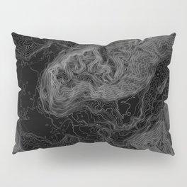 NORTH BEND WA TOPO MAP - DARK Pillow Sham