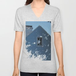 Tree shadow on a house facade Unisex V-Neck