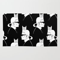 karl Area & Throw Rugs featuring Karl & Choupette by cvrcak