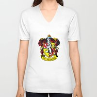 gryffindor V-neck T-shirts featuring Gryffindor - Hogwarts  by Kesen