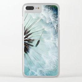 Dandelion Blues Clear iPhone Case