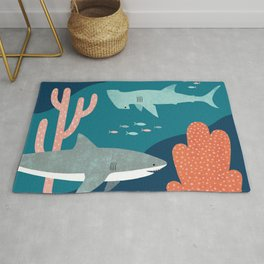 Silly Sharks Rug