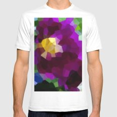 Purple Blaze White Mens Fitted Tee MEDIUM