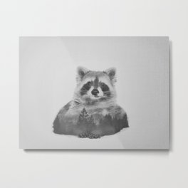Oh, Hello There (Black and White) Metal Print