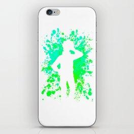 Anime Paint Splatter Inspired Shirt iPhone Skin