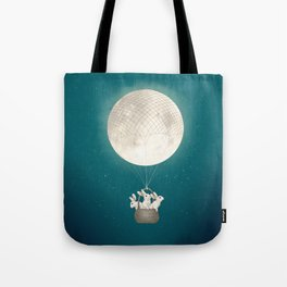 moon bunnies Tote Bag