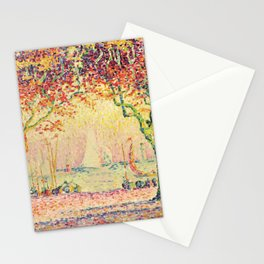 "Paul Signac ""Les Allées, Cannes"" Stationery Cards"