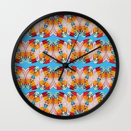 WAVES OF COLOR IN BLUE Wall Clock