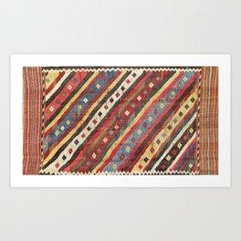 Luri  Antique Fars Southwest Persian Kilim Print Kunstdrucke