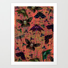 colour bugs Art Print