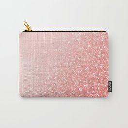 Rose Gold Pink Mermaid Sparkles V Carry-All Pouch