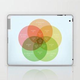 Ice Cube - It Was A Good Day Venn Diagram Laptop & iPad Skin