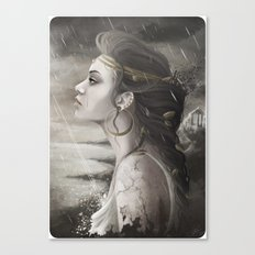 Golden Tear Canvas Print