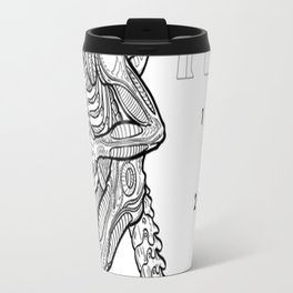 In the bookcase aisle, no one can hear you scream Travel Mug