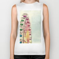 ferris wheel Biker Tanks featuring Ferris wheel by Ana Guisado
