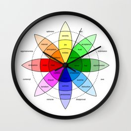Love and Emotion Valentines Color Wheel Wall Clock