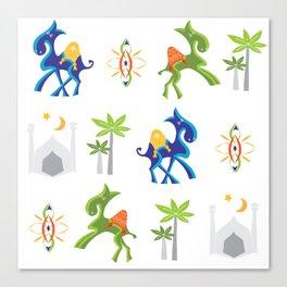 Camel Moroccan Pattern Canvas Print