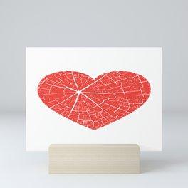 Cracked Heart Tree Print Mini Art Print