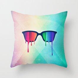 Love Wins! Rainbow - Spectrum (Pride) / Hipster Nerd Glasses Throw Pillow