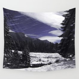 Star Trails in Mount Rainier National Park Wall Tapestry