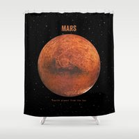 bruno mars Shower Curtains featuring Mars by Terry Fan