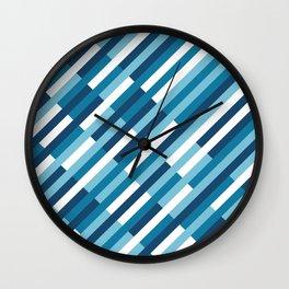 Bricks Rotate Blues Wall Clock