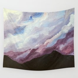 Purple Clouds Wall Tapestry