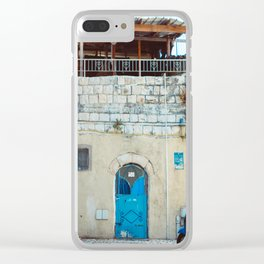 Blue in Safed Clear iPhone Case