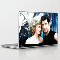 grease Laptop & iPad Skins featuring Sandy and Danny from Grease - Painting Style by ElvisTR