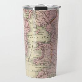Vintage Map of The British Isles (1864) Travel Mug