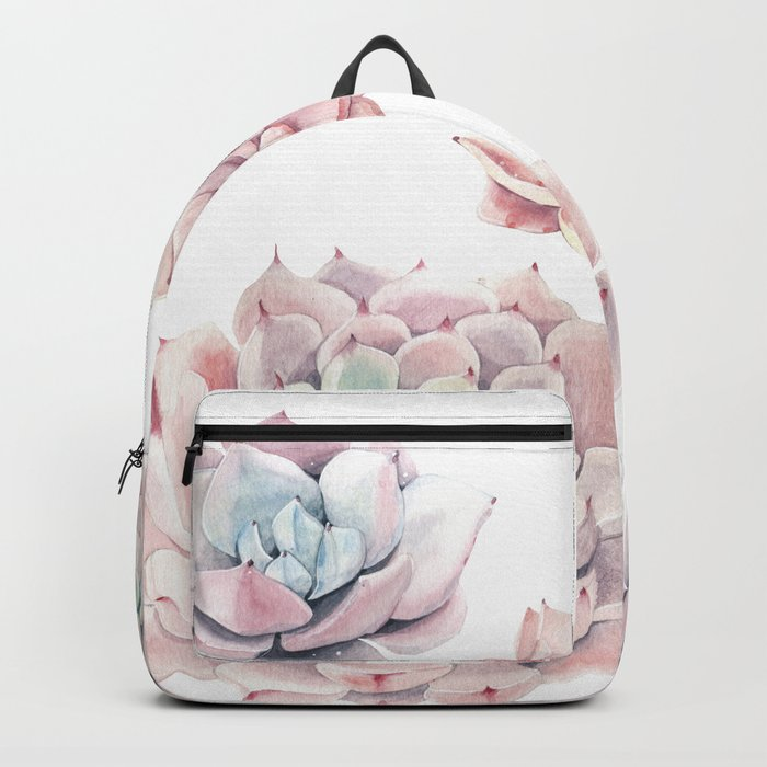 Pink Succulents Backpack