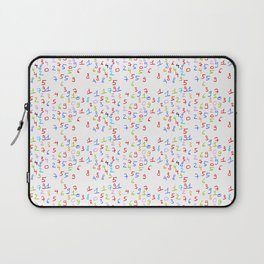 number 3- count,math,arithmetic,calculation,digit,numerical,child,school Laptop Sleeve
