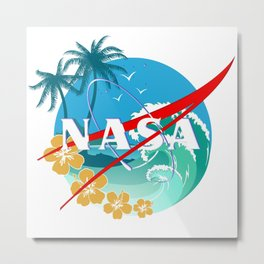 NASA BEaCH Metal Print