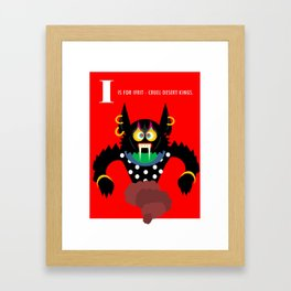 I is for Ifrit Framed Art Print