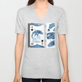 Cards for my arts / WhaloBike Unisex V-Neck