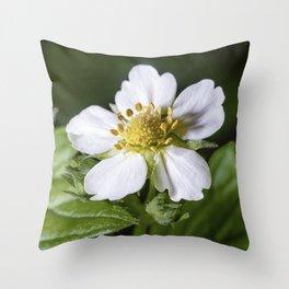 Strawberry flower Throw Pillow