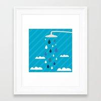 shower Framed Art Prints featuring shower  by mark ashkenazi