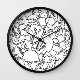 Doodle Explosion Wall Clock